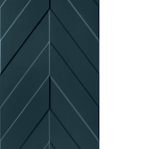 4D Chevron Deep Blue Pattern