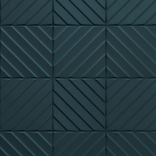 4D Diagonal Deep Blue Pattern