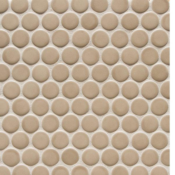 6th Avenue Round Mosaic (Flax Matt)