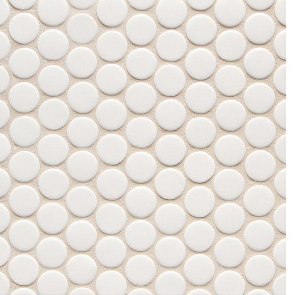 6th Avenue Round Mosaic (White Matt)
