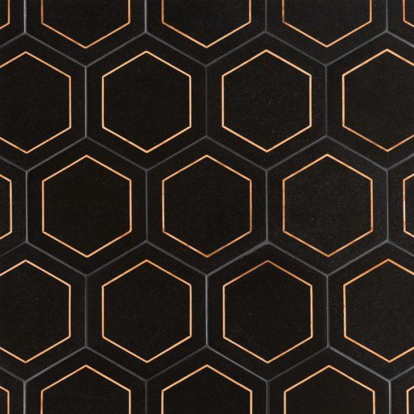 Ellington Savoy hex in Ebony Pattern