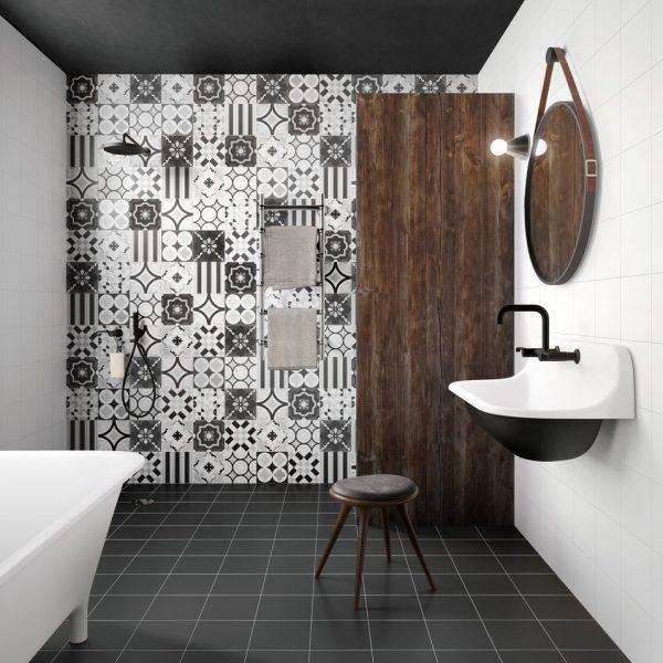 Regal Field (Black) Bathroom Floor