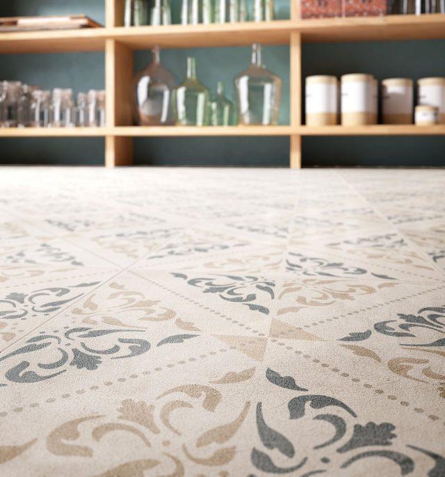 Retro Tapestry Floor Closeup