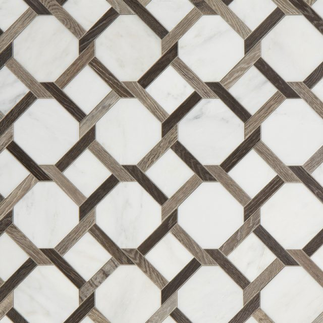 Sterling Row Rattan in Charcoal Pattern