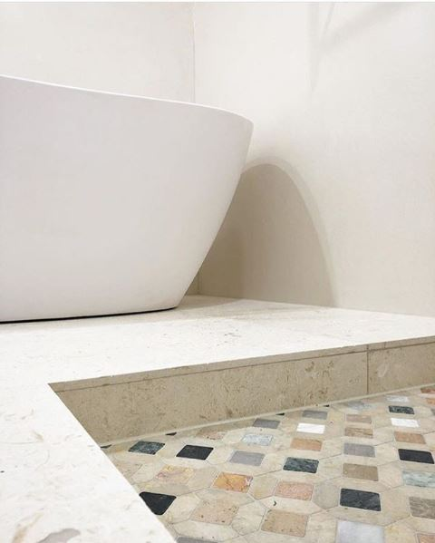 Streets of Rome Bathroom Floor